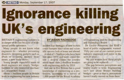 Ignorance is killing engineering.