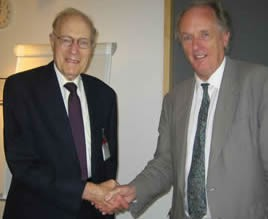 Dr Stan Owers with Dr Ian Gibson MP